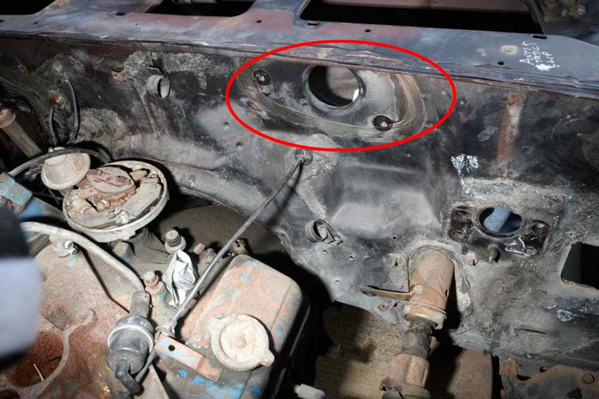 Recessed Wiper Motor Plate 78 Camaro NastyZ28 com