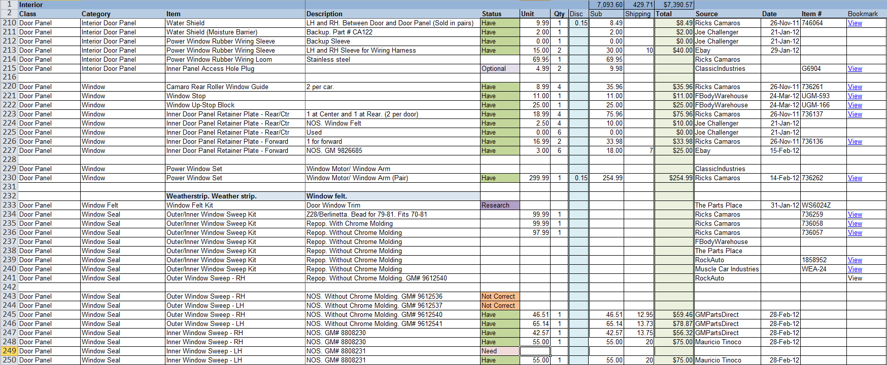 Project planning spreadsheet for Project planner hd