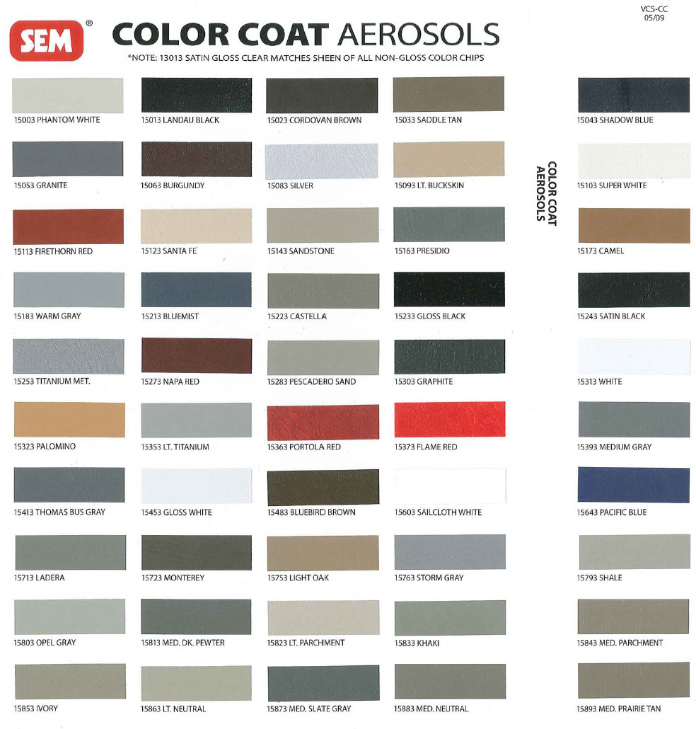 Sem Aerosol Paint Codes Revised Color Wheel Nastyz28 Com